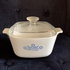 Corning Ware Vintage Blue Cornflower casserole